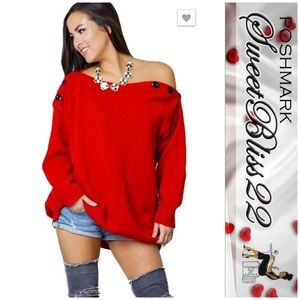 💄Red Sweater💄